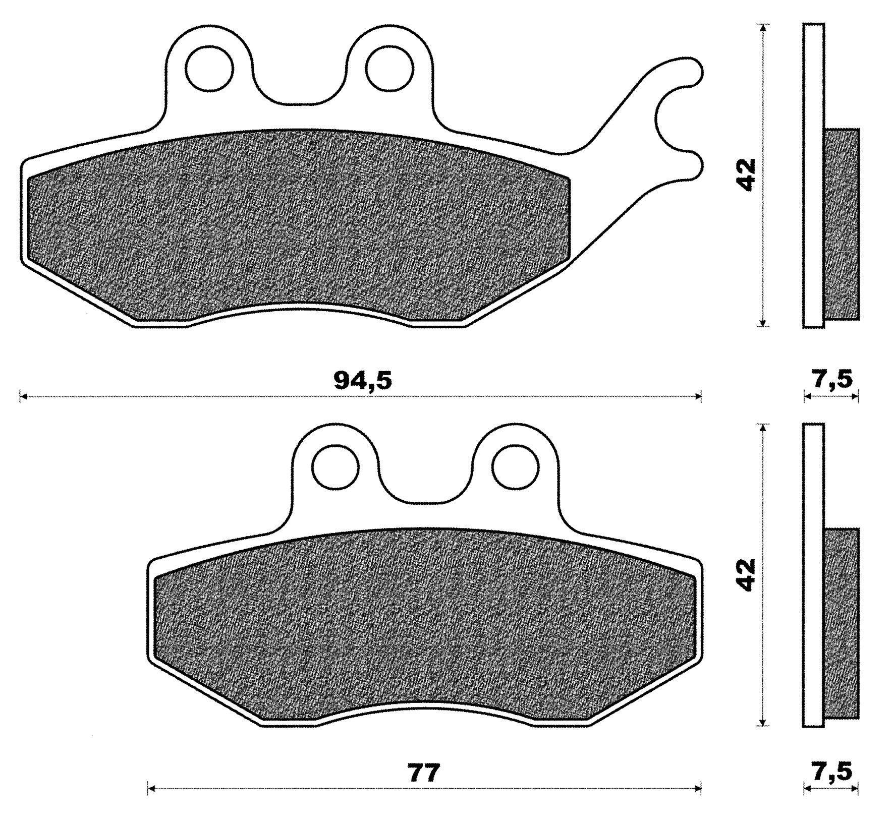 Plaquettes de frein avant C4 Rieju Naked RS2
