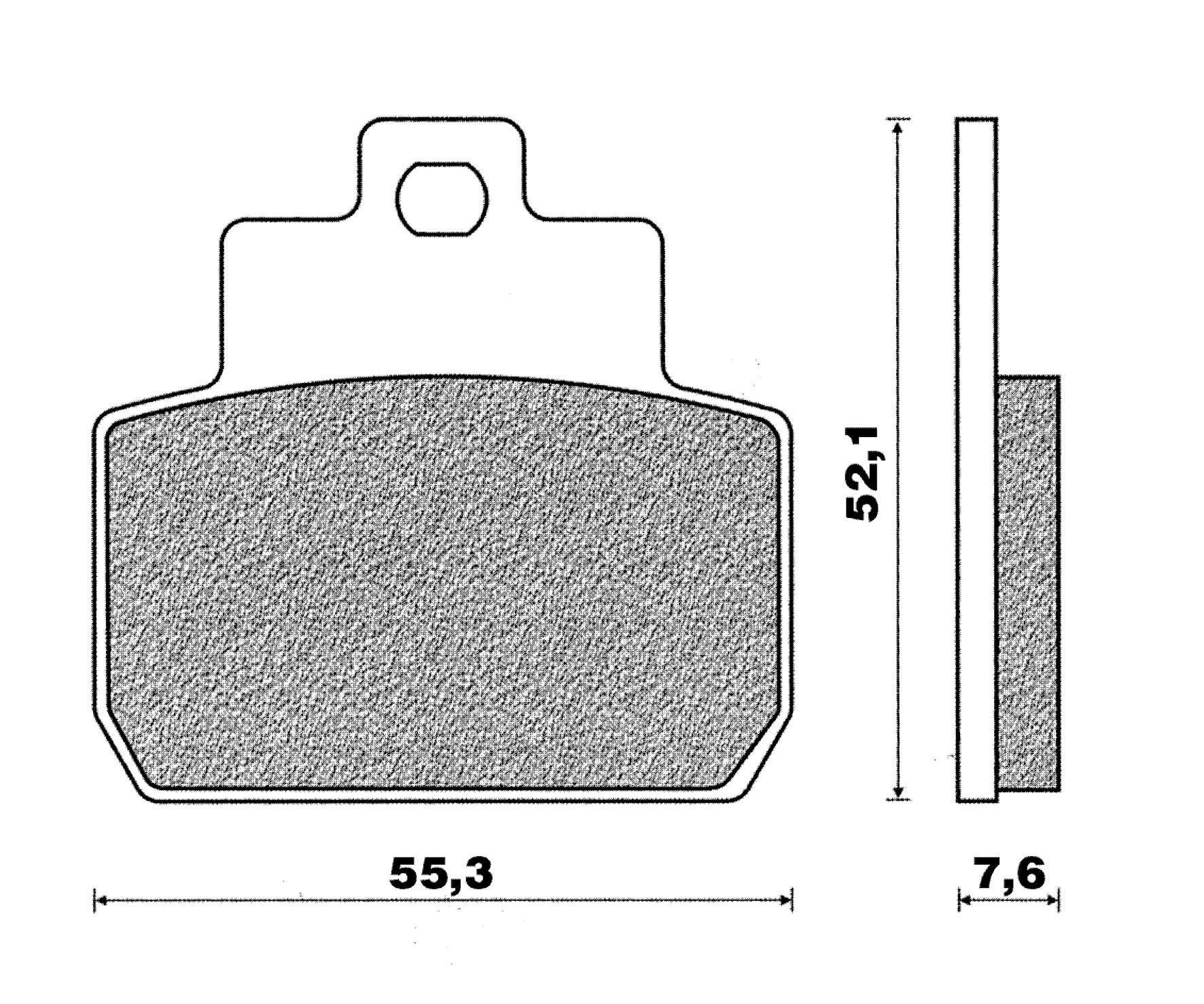Plaquettes de frein arrière C4 X8-X9