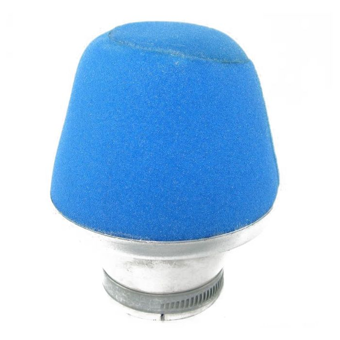 Filtre à air 1Tek conique Alu D.47/50 - bleu
