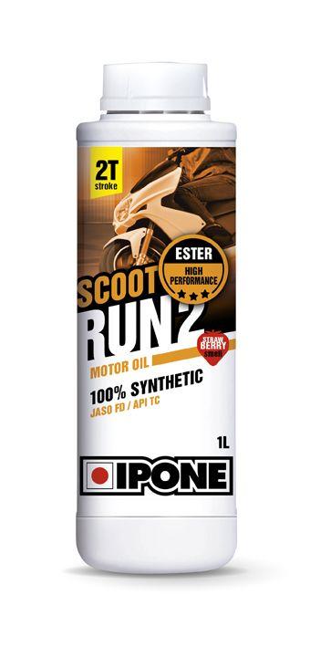 Huile moteur 2T Ipone Scoot Run 2 Fraise 1l